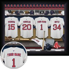 Boston Red Sox Personalized Framed