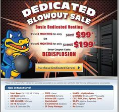 The Big Dedicated Server Coupon code of Hostgator in May 2013: just $99 for 3 months