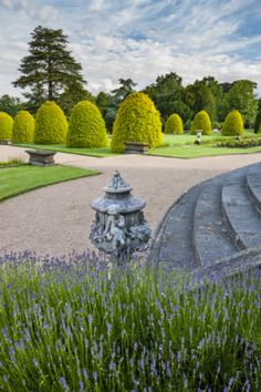 The garden terraces in June on the Shugborough Estate, Staffordshire.