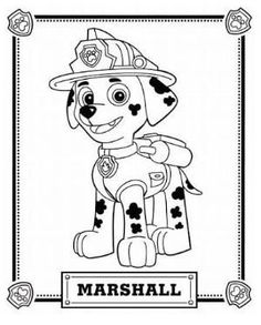 Paw Patrol Marshall Coloring Pages Printable And Book To Print For Free Find More Online Kids Adults Of