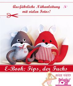 Fips Fuchs E-Book, Schnittmuster von BINENSTICH: Nähanleitungen für Stofftiere auf DaWanda.com