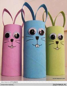 Zobacz zdjęcie ozdoba na Wielkanoc z rolek papieru w pełnej rozdzielczości