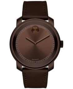 ffbe53c6f50a Men s Swiss Bold Brown Leather Strap Watch 43mm 3600377