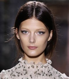 Cat eye liner on the Valentino spring 2012 couture runway