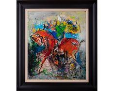 Claunul și balaurul II - pictură în ulei pe pânză, artist Iurie Cojocaru Painting, Painting Art, Paintings, Painted Canvas, Drawings