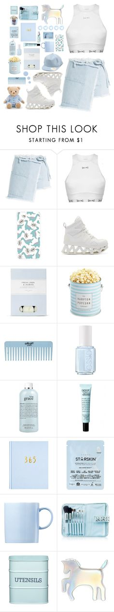 """""""Tender Love"""" by kwonrena ❤ liked on Polyvore featuring Sandy Liang, USA Pro, INC International Concepts, Forever 21, Marc by Marc Jacobs, Laura Ashley, The Hampton Popcorn Company, Essie, philosophy and Starskin"""