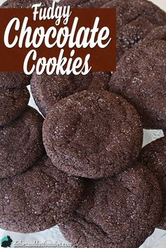 Fudgy Chocolate Cookies from dishesanddustbunnies.com