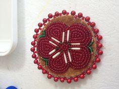 Red Beaded Flower by AlaskaBeadwork ~ $12.50