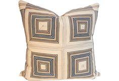 19th-C. Ticking Patchwork Pillow on OneKingsLane.com