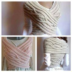 dames élégantes poncho - écharpe tricotée.Écharpe - Transformateur