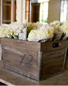 Crate as table number