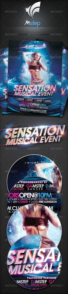 Sensation Musical Event Flyer