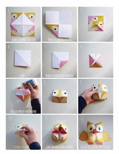 Printable Woodland Animals Cootie Catchers – Origamis for kids – Lalelilolu Studios - Tutu Umekkan Origami For Kids Animals, Kids Origami, Origami Owl, Origami Paper, Animals For Kids, Simple Origami For Kids, Origami Flowers, Origami Easy, Origami Rabbit Instructions