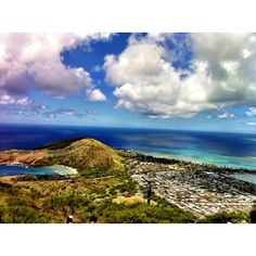 View from the top of Koko head trail in Oahu Hawaii