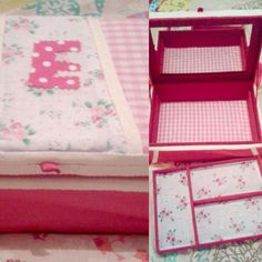 A fabulous fabric covered jewellery box, made by a favourite customer from our fabrics hotpinkhaberdashery.com