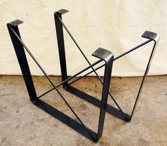 JUEGO de 2 Metal comedor patas patas de por TimberForgeWoodworks