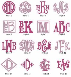 Monograms -- one of my favorite things about the South! You can monogram everything!