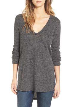 5b522199b44f7a Main Image - ASTR Side Split Sweater Usa Sweater