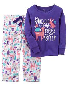 Girls Carter's Graphic Top & Print Fleece Pants Pajama Set, P Toddler Pajamas, Baby Girl Pajamas, Toddler Pants, Carters Baby Girl, Toddler Girl, Baby Girls, Girls 4, Reborn Toddler, Infant Girls