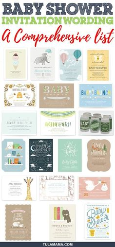 Baby shower invitation wording is important because it sets the stage for the baby shower. Click to see a comprehensive list of baby shower poems for every type of shower: co-ed shower gender reveal shower and lots more. Pin it! #babyshower #babyshowerinvitations #babyshowerwording #babyshowerquotes