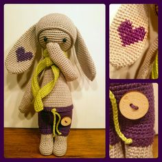 RITA the rabbit made by Ingrid / crochet pattern by lalylala ♡ Crochet Fairy, Easter Crochet, Crochet For Kids, Crochet Dolls, Knit Crochet, Crochet Hats, Amigurumi Patterns, Amigurumi Doll, Doll Patterns