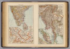 India South, Burma, Malay Peninsula. - David Rumsey Historical Map Collection