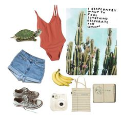 """""""A Summer day"""" by francescaschiavo on Polyvore featuring moda, Out of Print, Polaroid, LIST, Converse e Araks"""