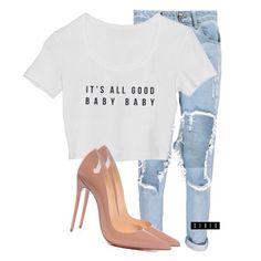 """All Good"" crop via teamxirix.com ($25, link in bio), Boohoo jeans ($36, on sale), and Louboutin So Kate's xx"