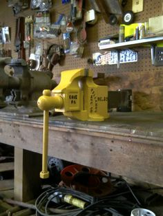 Nice Holland  no. 35 Bench Vise posted from The Garage Journal Board. The VISES of Garage Journal