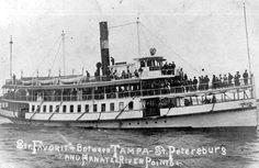 "Steamer ""Favorite"" between Tampa, Saint Petersburg and Manatee River points"