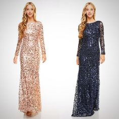 Affordable long sleeves Sequin Dress... This floor length dress is dazzling.. If you want to move away from the traditional chiffon bridesmaid dresses and go for something more lavish without breaking
