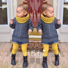 Kids fashion -looks like a little Ashley ; Toddler Girl Style, Toddler Fashion, Kids Fashion, Toddler Girls, Baby Girls, Outfits Niños, Baby Outfits, Toddler Fall Outfits Girl, Baby Dresses