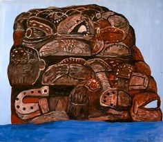 Philip Guston: Rock 1978, oil on canvas, 52 x 60 inches