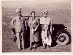 Picture of Brother of Nawab & cheif of Shinwari's (Shinwari Tribe) . Standing with a guest from british colonial times. Location Landi Kotal Khyber agency.