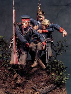 Prussian troops, Franco-Prussian war- 54mm figures by Bill Horan