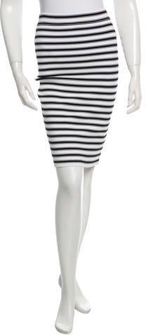 A.L.C. Striped Knit Skirt
