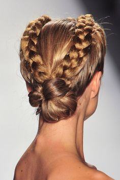 braided hair @ Venexiana Spring 2014. One of my favorite looks that my Philip Pelusi team and I created!