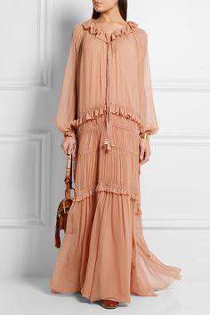 Chloé - Plissé silk-chiffon maxi dress. KleidungDesignerschuheChiffon  Maxi-kleidSommerkleidungNeueste ... 768fea77d0