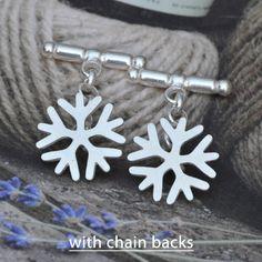 Snowflake Cufflinks In Sterling Silver