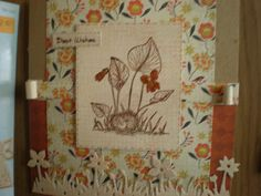 Stampendous'House Mouse',stamp. Spellbinders Die cut Flower border. (Craftyhearts)