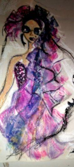 #fashionilustration #pantone#ultraviolet18-3838 , dibujos ocio