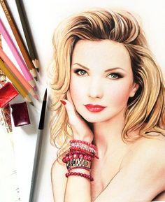 Fashion illustration (makeup) l Doll Memories
