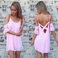$26.00   Sexy strapless pink dress KMY25KL