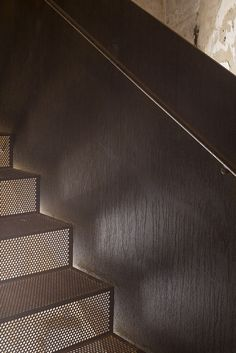 Image 8 of 40 from gallery of Rubjerg Knude Lighthouse / JAJA Architects + Bessards' Studio. Photograph by Hampus Per Berndtson Stair Handrail, Staircase Railings, Staircase Design, Stairways, Stairs Architecture, Architecture Details, Interior Architecture, Metal Stairs, Wooden Stairs