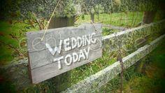 Wedding Sign Hanging Vintage Wedding Today