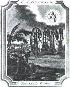 La Vision d'Ezechiel  « …Les Roues s'élevaient en même temps, car l'Esprit des Vivants était dans les Roues… » Ezechiel