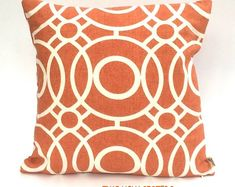 Geometric Cushion Cover Modern Print  Orange Fabric Pillow Cover Pillow Sham Geometric Print Geometric Fabric Free Shipping Two Ugly Sisters Geometric Cushions, Geometric Fabric, Cover Pillow, Pillow Shams, Orange Fabric, Simple Shapes, Modern Prints, Sisters, Throw Pillows