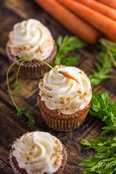Moist, fluffy, and insanely flavorful, these Chai Spiced Carrot Cake Cupcakes are so perfect for Spring celebrations!