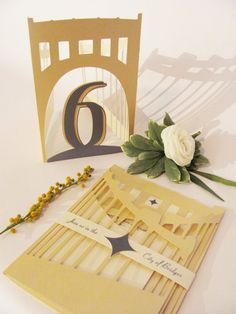 Pittsburgh  City of Bridges  Wedding Invitation Suite by RedPunch