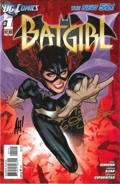 Batgirl #1, second printing (November, 2011) - autographed